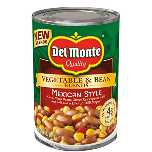Del Monte Vegetable & Bean Blends, Mexican Style, 14.5-Ounce Can, 12 Count