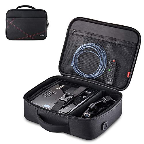 Projector Case, Projector Travel Carrying Bag Internal Dimension 14.5'x10.6'x3.9' with Adjustable Shoulder Strap & Compartment Dividers for for Acer, Epson, Benq, LG, Sony (Large)