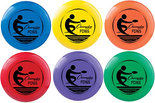 Champion Sports Compeition Flying Disc - Single Assorted Color, 11 Inch (165 Grams)