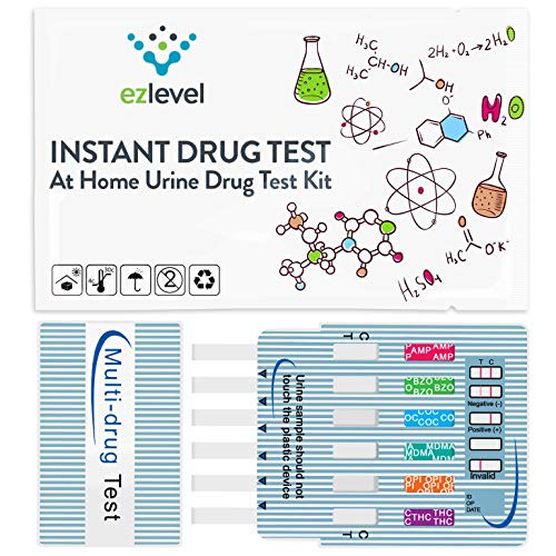 (10 Pack) EZ LEVEL 5 Panel Urine Multi Drug Test Kit Marijuana (THC) Cocaine (COC) Opiate (OPI) Amphetamine (AMP) Ecstasy (MDMA)