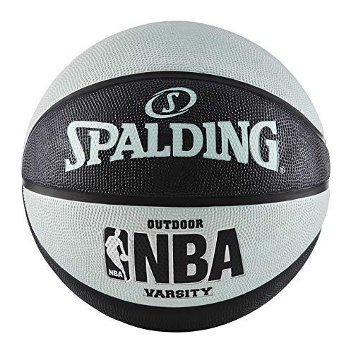 Spalding NBA Varsity Outdoor Rubber Basketball - Black/Blue - Official Size 7 (29.5')