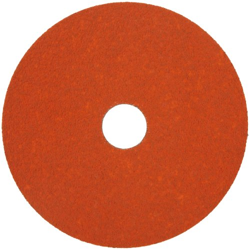 Norton SG Blaze F980 Abrasive Disc, Fiber Backing, Ceramic Aluminum Oxide, 7/8' Arbor, 7' Diameter, Grit 36 (Box of 25)