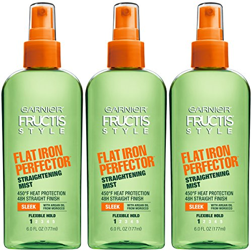 Garnier Fructis Style Flat Iron Perfector Hair Straightening Mist, 6 Ounce Bottle, 3 Count