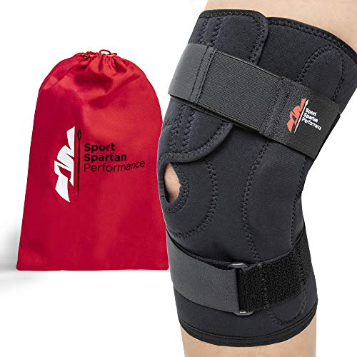 Hinged Unloader Knee Brace Support – Relieves LCL ACL MCL, Meniscus Tear, Arthritis, Sprains, Ligament & Tendon Injuries, Open Patella, Fully Adjustable, Breathable Neoprene Compression, Men Women