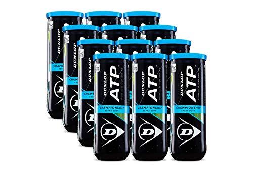Dunlop Sports ATP Championship Extra Duty Tennis Balls, 12 x 3-Ball cans