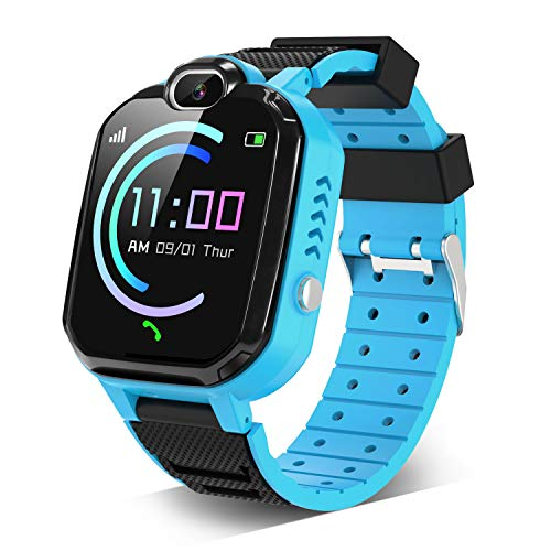 Kids Smartwatch for Boys Girls - Smart Watch for Kids with 7 Games Music Player Camera School Mode SOS Phone Watch for 4-12 Students Children as Birthday Gift (Blue)