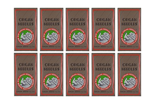 100 ORGAN FLAT SHANK 15X1 HAX1 HOME SEWING MACHINE NEEDLES - SIZE #75/11