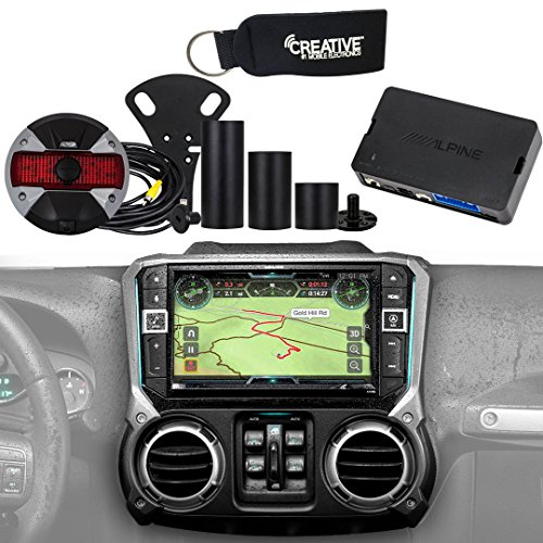 Alpine Restyle - X209-WRA-OR Off Road Edition 9' Radio, HCE-TCAM1-WRA Spare Tire Camera & KAC-001 Accessory Controller
