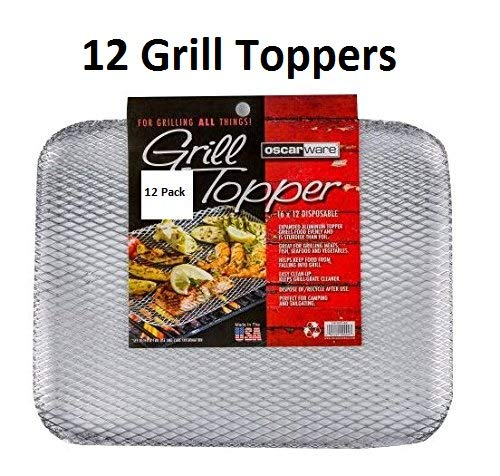 Oscarware Disposable Grill Topper, 16x12-Inch, Recyclable Aluminum (12)