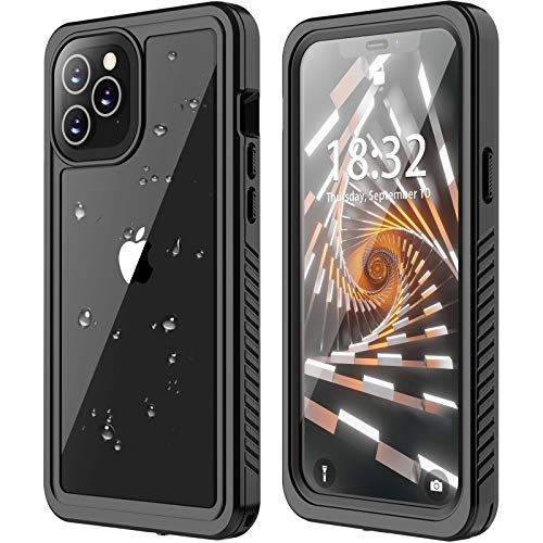 ANTSHARE for iPhone 12/iPhone 12 Pro Waterproof Case 5G, iPhone 12/12 Pro Case Built in Screen Protector Full Body Protective Shockproof Dustproof IP68 Waterproof Case for iPhone 12/12 Pro 6.1inch