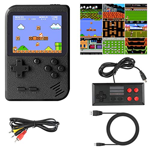 Number-One Handheld Game Console, Portable Gameboy with 400 Classic 3 Inch Screen, Rechargeable FC Game Console Support TV Output and Two Players, Birthday for Boys Girls Men