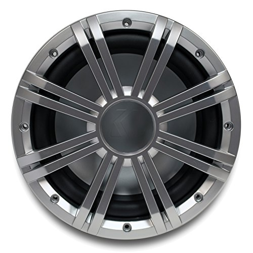 Kicker 10' 4-ohm Marine Free Air Subwoofer with Included Silver Grille.