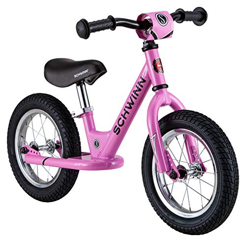 Schwinn Skip 1 Toddler Balance Bike, 12-Inch Wheels, Beginner Rider Training, Pink