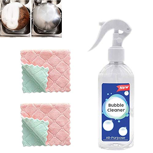 All-Purpose Bubble Cleaner,Efficient Kitchen Grease Cleaner Multi-Purpose Foam Degreaser Powerful Remove Oil Stain Cleaner