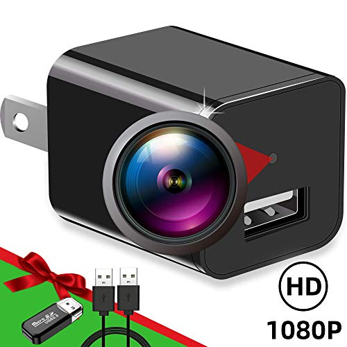 Spy Camera 1080P Hidden Camera Charger | Mini Hidden Spy Camera | Spy Cam Hidden Nanny Camera | USB Hidden Spy Cam Charger | Hidden Security Camera | Full HD Surveillance Camera for Home and Office