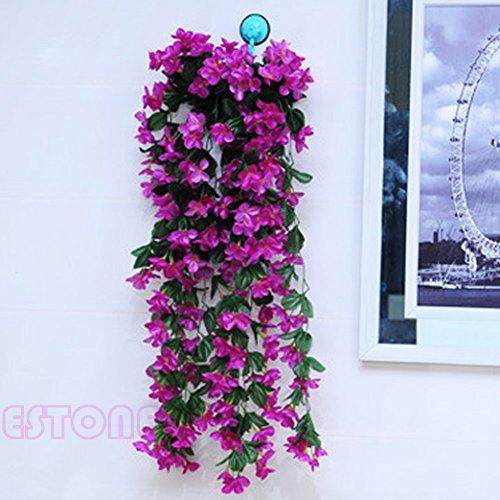 Hanging Garland Artificial Fake Violet Hanging Home Wedding Decor Vine Flowers