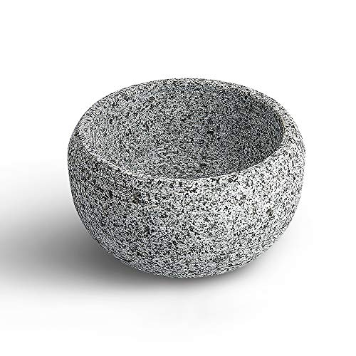 CHARMMAN Shaving Bowl for Men, Natural Granite Stone, Keep Warm Better, Easier to Lather, Exquisite Works of Shave ArtSnowflake Color
