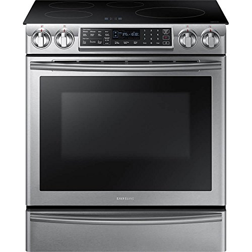 Samsung Appliance NE58K9560WS 30' Slide-in Electric Range with Smoothtop Cooktop, 5.8 cu. ft. Primary Oven Capacity, in Stainless Steel