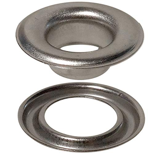Stimpson Self-Piercing Grommet and Washer Stainless Steel 304 Reliable, Durable, Heavy-Duty #2 Set (500 Pieces of Each)