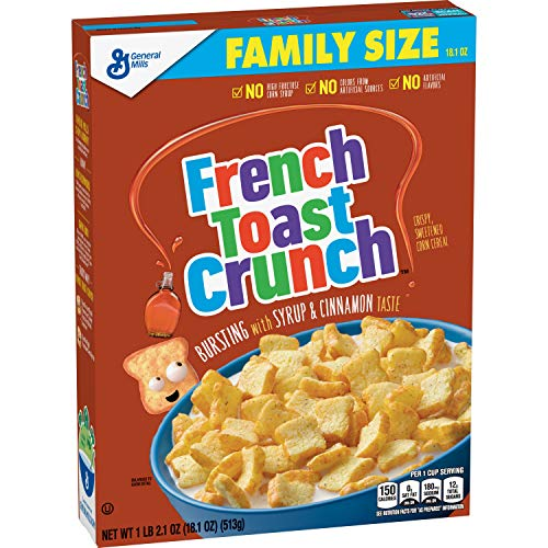 French Toast Crunch, Crispy Corn Cereal 18.1 oz (Pack of 5)