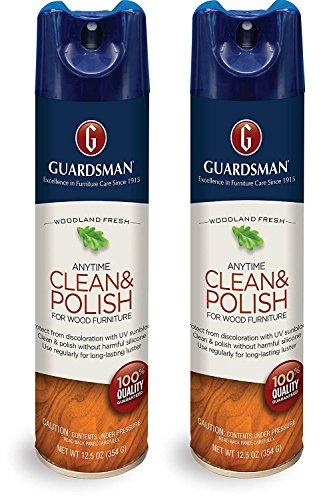 Guardsman Clean & Polish For Wood Furniture - Woodland Fresh - 12.5 oz - Silicone Free, UV Protection (2)