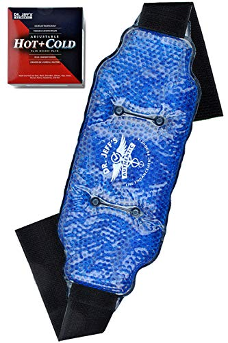Medical Grade Pain Relief Flexible Ice Pack for Injuries | Dual Sided Soft Plush Hot Pack + Flexible Gel Beads Reusable Ice Pack | Great for Knee, Sciatica, Back, Neck Pain | Bonus Extension Straps