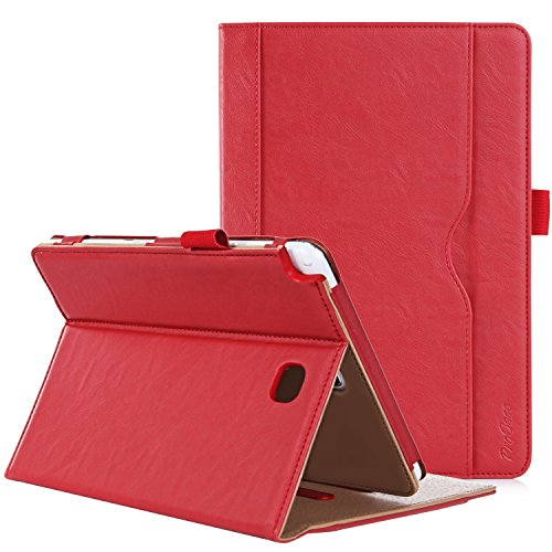 ProCase Galaxy Tab A 8.0 Case (2015 Old Model) - Standing Cover Folio Case for 2015 Galaxy Tab A Tablet (8.0 inch, SM-T350 P350) -Red