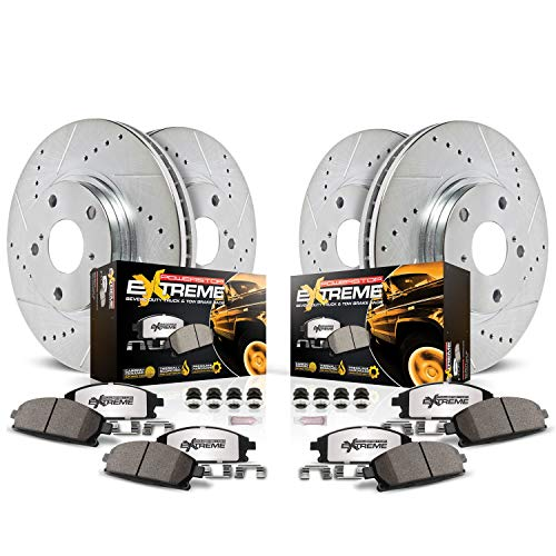 Power Stop K2073-36 Z36 Truck & Tow Front and Rear Brake Kit