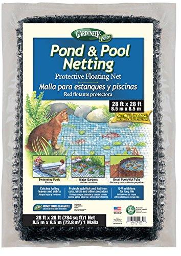 Dalen PN-28 PN28 Pond Netting 28-Feet 3/8' Mesh, 28'X28',Black