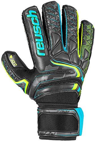 Reusch Attrakt R3 Finger Support Goalkeeper Glove - Size 8, Black/Yellow