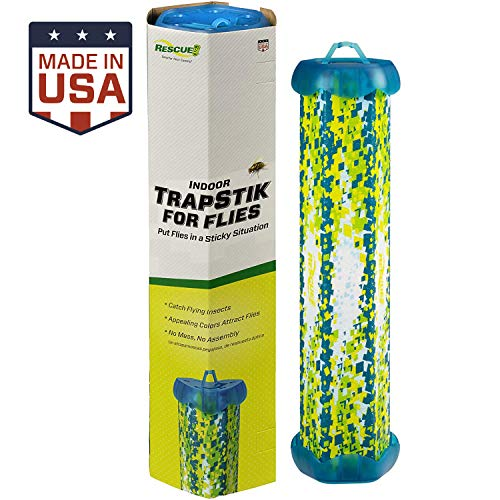 RESCUE! Non-Toxic TrapStik for Flies  Indoor Hanging Fly Trap