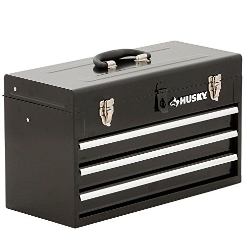 Husky TB-303B 3 Drawer Portable Tool Chest with Tray