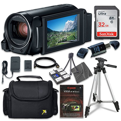 Canon VIXIA HF R80 Camcorder with Sandisk 32 GB SD Memory Card + Extra Accessory Bundle