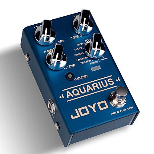 JOYO R-07 Aquarius Delay + Looper Multi Guitar Effect Pedal, Multieffects Pedal, with 8 Digital Delay Effects