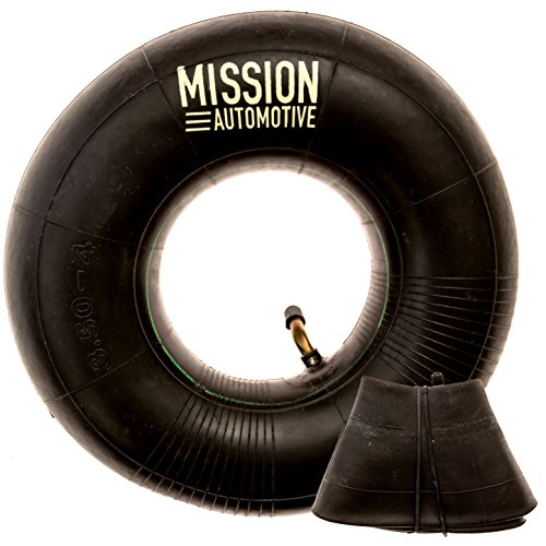 Mission Automotive 2-Pack of 4.10/3.50-4' Premium Replacement Tire Inner Tubes - for Hand Trucks, Dollies, Wheelbarrows, Lawn Mowers, Trailers and More - Tube for 4.10 3.50-4/410/350-4 Wheel