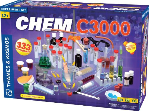 Thames & Kosmos Chem C3000 (V 2.0) Chemistry Set | Science Kit with 333 Experiments & 192 Page Lab Manual, Student Laboratory Quality Instruments & Chemicals