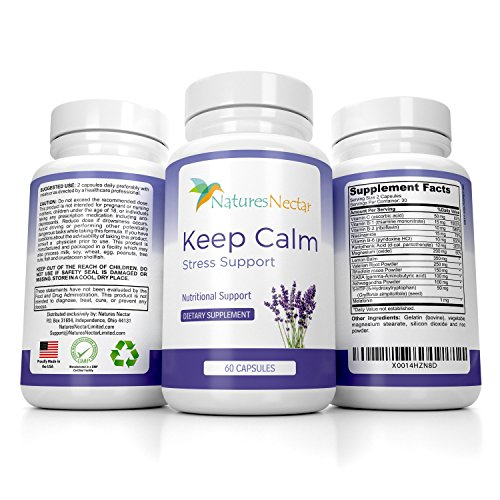Keep Calm - Anti Anxiety Relief Supplements Formulated for Natural Anxiety Relief - Helps Fight Panic Attacks with a Calming Joy Filled Cortisol Boost - Anti Stress Supplement & Stress Relief Pills