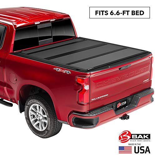BAK BAKFlip MX4 Hard Folding Truck Bed Tonneau Cover   448121   Fits 2014-18, 19 Limited/Legacy GM Silverado, Sierra: Limited/Legacy; 2014 1500, 15-19 ALL 6'6' Bed
