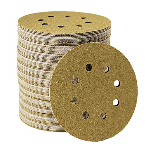 Mestool 58-AP Gold 5-Inch 8-Hole 80 Grit Dustless Hook&Loop 100-pack (80)