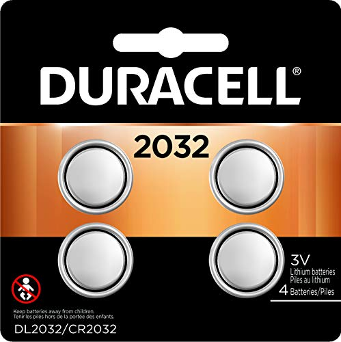 Duracell - 2032 3V Lithium Coin Battery - long lasting battery - 4 count