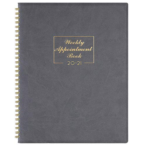 2020-2021 Weekly Appointment Book & Planner - 2020-2021 Daily Hourly Planner 8.4' x 10.6', July 2020 - June 2021, 15-Minute Interval, Flexible Soft Cover, Twin-Wire Binding, Perfect for Your Life