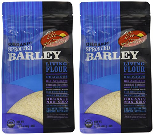 Organic, Sprouted Barley Flour, Non-GMO, Bio-Available with a Great Taste (24 oz) - Pack of 2
