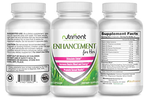 Enhancement for Her Female Performance Enhancer - Female Enhancement Pills - Boost Libido Arousal and Climax Naturally Increase Energy Mood Desire and Satisfaction - 60 Vegan Cap