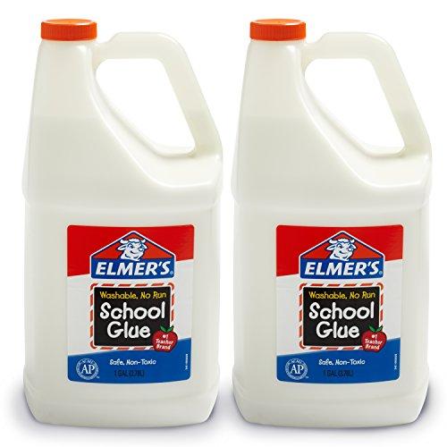 Elmer's Liquid School Glue, Washable, 1 Gallon, 2 Count - Great for Making Slime