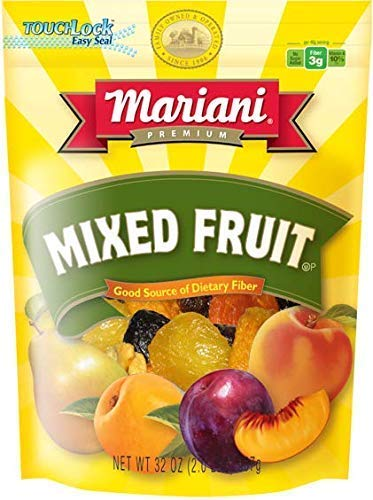 Mariani - Sun Ripened Mixed Fruit (32oz - Pack of 1) - No Sugar Added - Healthy Snack for Kids & Adults