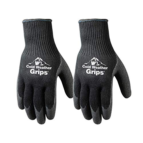 2 Pairs Cold Weather Latex Grip Winter Work Gloves (526MN)