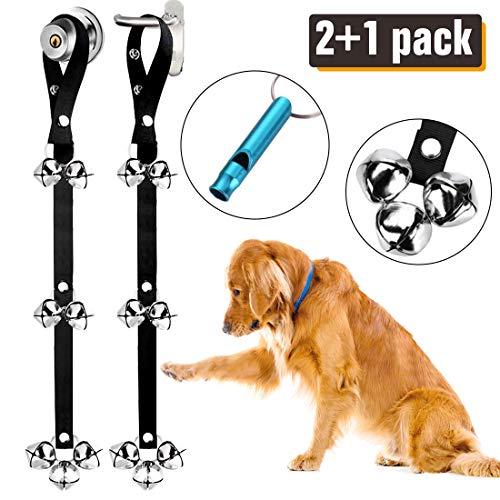 2 Pack Dog Doorbells Premium Quality Training Potty Great Dog Bells Adjustable Door Bell Dog Bells for Potty Training Your Puppy The Easy Way - Premium Quality - 7 Extra Large Loud 1.4 DoorBells