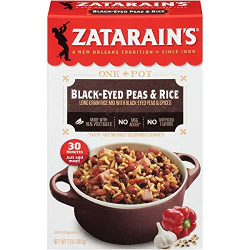 Zatarain's Black-Eyed Peas & Rice, 7 oz (Pack of 12)