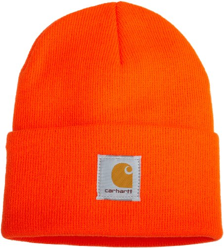 Carhartt Men's Acrylic Watch Hat A18, Bright Orange, One Size