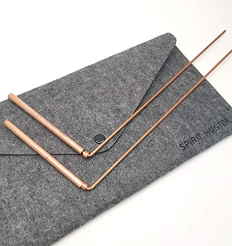 Spirit Hunter 99.9% Copper Dowsing Rod- 2PCS Divining Rods with Bag - Detect Gold, Water, Ghost Hunting etc.